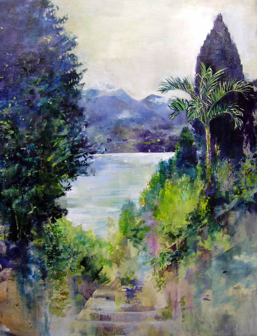 Path to The Lake, landscape by Dor Duncan