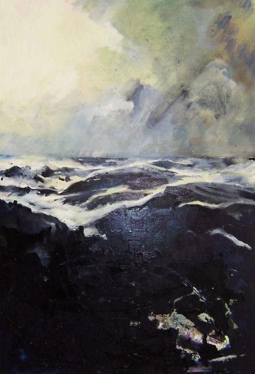 The Sea's Black Art, landscape by Dor Duncan from D'Or Gallery of figurative contemporary art