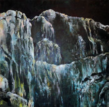 Ice Mountain, Parnassos I, Delphi, oil on canvas from Delphi Series by Dor Duncan