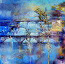 Two Bridges, oil on canvas by Dor Duncan
